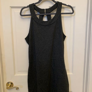 Gray mini dress with back cut outs